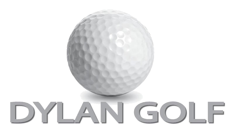 Dylan Golf Logo transparent whitefont grass